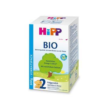 德国HIPP喜宝 有机奶粉二段 (6-10个月)800g/盒