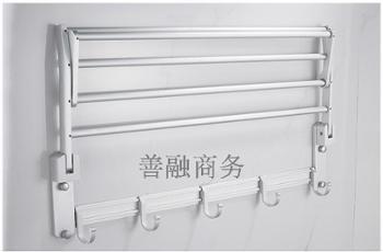太空铝毛巾架折叠浴巾架浴室五金挂件置物架浴室置物架卫生间