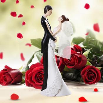 煌嘉工艺品幸福相拥凝视A结婚礼物创意摆件欧式家居饰品