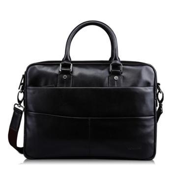 意大利TOMMASI男包男士真皮手提包单肩包商务公文包方形简单外形休闲商务包