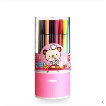 Deli/得力7067绚丽多彩可洗水彩笔绘画笔24色/筒颜色随机1筒