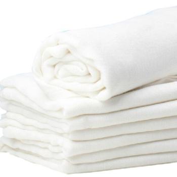 BABYMATE双层纱布尿布10片装可洗纱布尿布宝宝全棉bb尿片