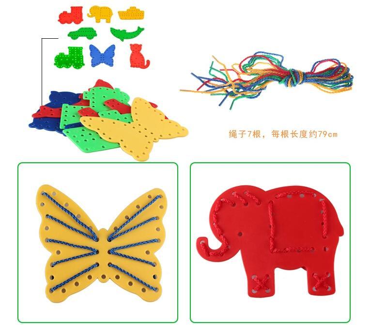 诞礼物启慧大号蘑菇钉插板儿童拼图益智玩具3 4 5 6 7岁蘑菇丁
