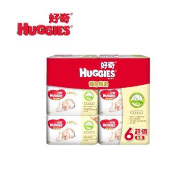 好奇Huggies超厚倍柔婴儿湿巾80抽*6包