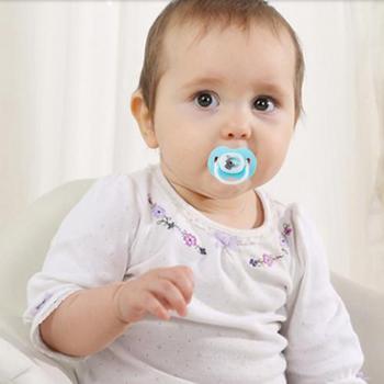 爱因美婴儿安抚奶嘴0-6-18月新生儿宝宝硅胶安慰奶嘴安睡型带盖