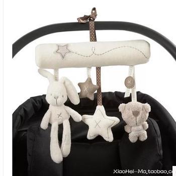 超萌 出口英国 婴儿车吊铃 婴儿床挂床绕 安抚音乐玩具 摇铃挂件