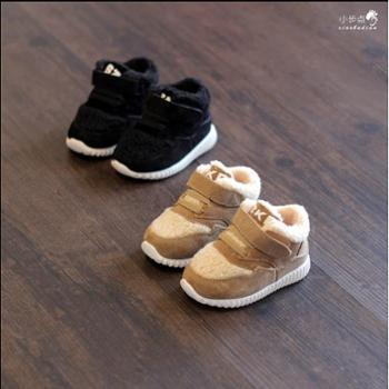 百圆 冬款羊羔毛儿童鞋宝宝运动鞋婴儿学步鞋休闲鞋小童棉鞋跑步鞋1-3