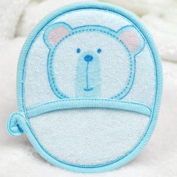 婴之初新款可爱卡通纯棉圆形浴擦婴儿沐浴棉浴球宝宝洗澡用品