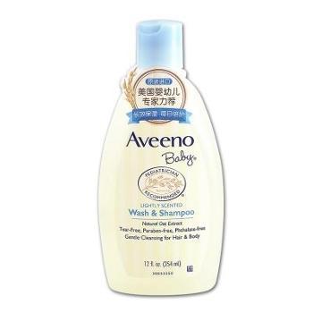 Aveeno儿童baby宝宝沐浴液艾惟诺婴儿洗发水沐浴露二合一洗护用品