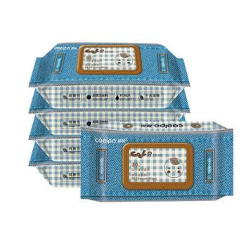 酷帕湿巾婴儿手口专用宝宝带盖屁屁新生幼湿纸巾80抽5大包装特价