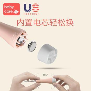 babycare婴儿发光带灯挖耳勺儿童掏耳朵勺宝宝安全软头挖耳器粉色
