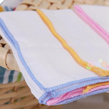多比兔宝宝纱布手帕 婴儿手巾 新生儿小毛巾 口水巾 4条装4273