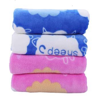 海娜森宝宝毯子婴儿法兰绒毛毯婴童盖毯儿童1-5岁透气柔软加厚软