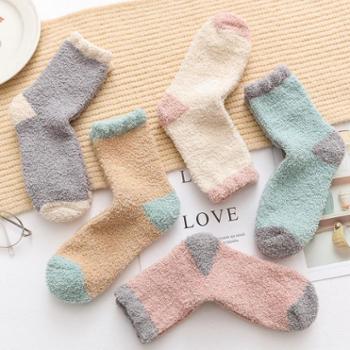 孕妇袜子女春秋冬季加厚加绒产后松口保暖产妇用品珊瑚绒坐月子袜
