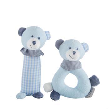 婴儿抓握训练玩具软可咬手抓摇铃新生儿0-12个月宝宝安抚毛绒玩偶