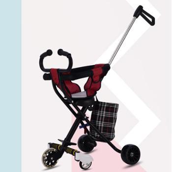 带娃溜娃神器五轮婴儿童三轮车小孩手推车1-3-4-5-6岁轻便折叠