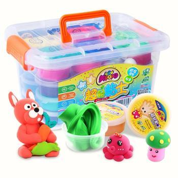 超轻粘土24色儿童无毒橡皮泥彩泥太空水晶黏土沙36色手工玩具套装