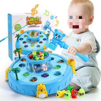 老鼠儿童打地鼠玩具女宝一两岁半宝宝男孩幼儿益智1-2-3岁女孩大
