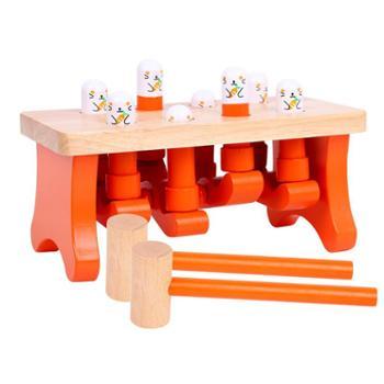 打地鼠玩具儿童幼儿宝宝益智男孩女孩木质婴儿快乐大号1岁2-3周岁
