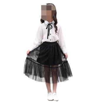 女童半身裙春夏儿童蕾丝短裙公主裙女宝宝蓬蓬裙亲子百褶裙长裙子