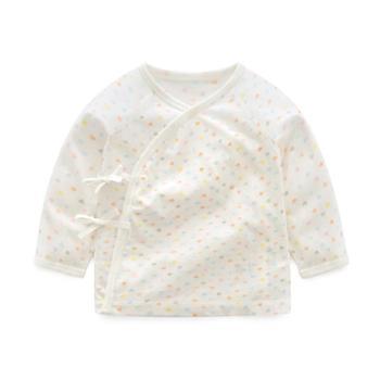 丽婴房春秋新生儿衣服0-3月莫代尔婴儿衣服绑带和尚服上衣裤子
