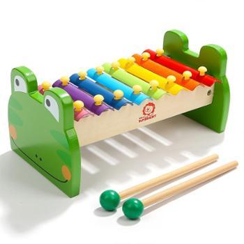 Topbright/特宝儿八音阶敲琴钢片木制敲打玩具婴幼儿童乐器