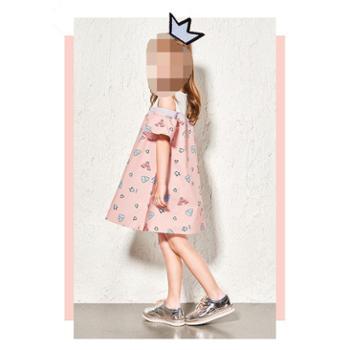 巴拉巴拉女童连衣裙新款夏童装幼童裙子小童条纹裙儿童连衣裙