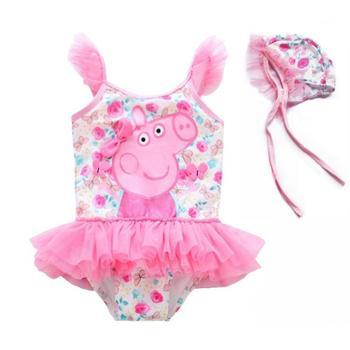 BB 女宝宝泳衣1-2-3-4岁连体可爱儿童游泳衣婴幼儿公主0女童泳衣小童