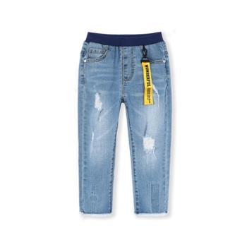 巴拉巴拉宝宝长裤儿童裤子春装新款童装男童休闲宽松牛仔裤潮