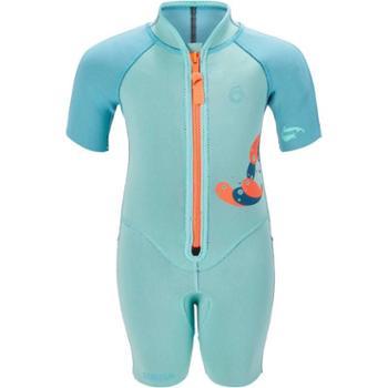 迪卡侬 儿童连体游泳衣宝宝男童女童婴儿潜水服男防晒保暖SUBEA