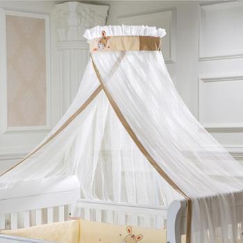 Infanton落地婴儿床蚊帐带支架儿童床蚊帐宝宝蚊帐婴童蚊帐