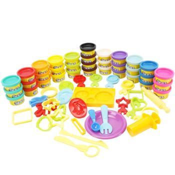 培培乐橡皮泥无毒3d彩泥不干模具工具套装DIY益智轻粘土儿童玩具
