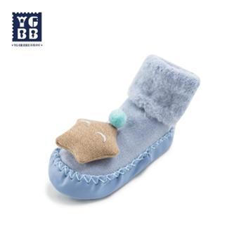 YBYGBB/英格贝贝宝宝高筒地板鞋袜防滑学步软底春秋加绒棉鞋婴儿步前鞋子