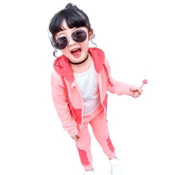 童装女童洋气套装2019新款1-3岁6宝宝春秋装儿童运动卫衣两件套潮