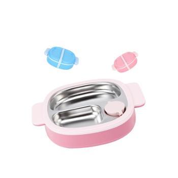贝氏 儿童注水保温餐盘分格盘可拆洗婴儿辅食碗饭盒宝宝餐具