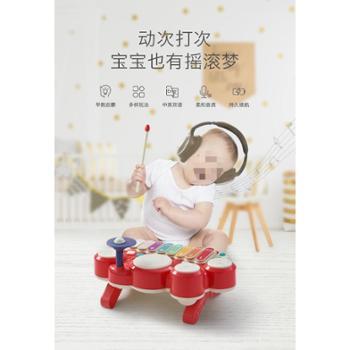 bc babycare 宝宝敲琴儿童电子琴小钢琴音乐玩具婴儿益智拍拍鼓手拍鼓