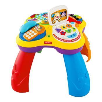 FISHER-PRICE/费雪 小狗皮皮学习桌多功能双语音乐游戏桌 婴儿早教益智玩具