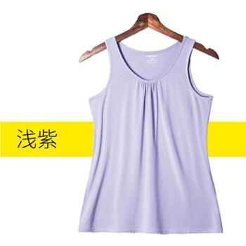 莫代尔 背心夏外穿内搭女宽松遮肚百搭吊带无袖V领韩版上衣女打底衫