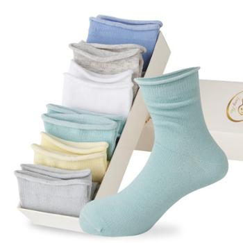 浪莎 儿童袜子夏季薄款学生松口中筒袜男童儿童秋季女童宝宝袜