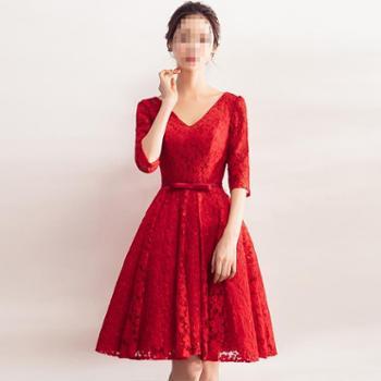 GCU敬酒服新娘结婚衣服显瘦红色礼服裙女新款春季端庄大气晚礼服
