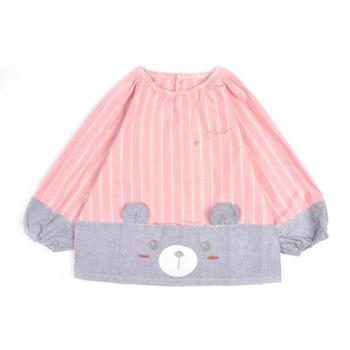 米豆酷尔 新款婴儿吃饭罩衣防水反穿衣儿童吃饭衣