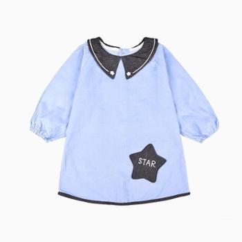 米豆酷尔 秋冬灯芯绒罩衣男童加长套羽绒服的反穿衣长袖