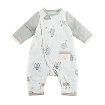 良良 宝宝睡袋儿童空调房防踢被秋冬季新生儿分腿睡袋