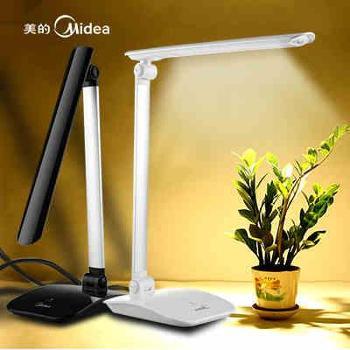 美的 LED台灯 护眼学习折叠台灯 折叠床头灯卧室床头儿童书桌阅读灯 触摸调光台灯 包邮 M7