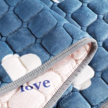 法兰绒双面学生床垫子母床铁架床上下铺儿童床护垫榻榻米水洗床垫生活用品床上用品