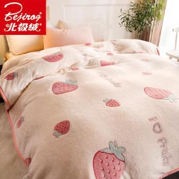 北极绒3D毛毯被子珊瑚绒毯子加厚冬季法兰绒床单人女学生宿舍毯子生活用品床上用品