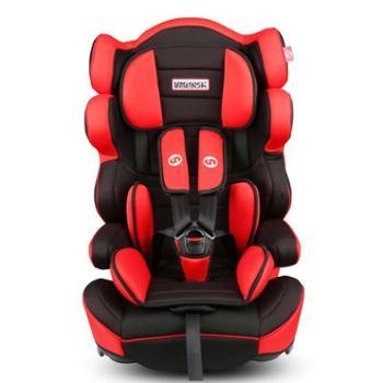 路途乐汽车儿童安全座椅9个月-12岁ISOFIX婴儿宝宝车载座椅熊酷酷黑