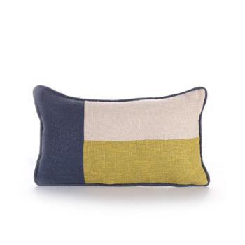 吉好仕 新款 彩色拼接海军风欧式沙发抱枕套 地中海风床头靠包 靠垫