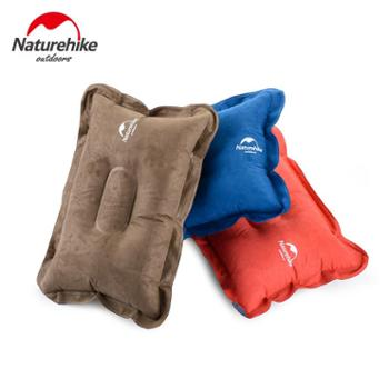 NH充气枕头户外露营便携旅行枕头火车睡觉麂皮绒舒适飞机睡枕