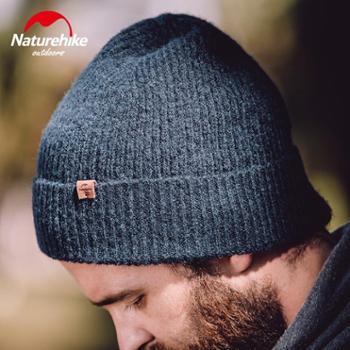 NH挪客户外翻边羊毛比尼针织帽男女韩版时尚毛线帽秋冬保暖运动帽